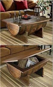 wood barrel furniture. DIY Barrel Coffee Table \u2013 Tips On How To Make One Wood Furniture