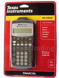 Financial Calculator Texas Instrument 1yr Warranty Texas Instruments Ba Ii Plus Financial Calculator Cfa Frm Garp Approved Extra Batt