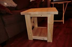 Easy Table Plans Ana White Smaller Rustic X End Table Diy Projects