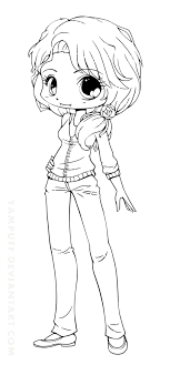 Chibi Anime Girl Coloring Pages Simple Seomybrand Com Page