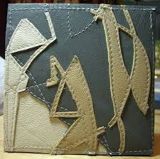 Abstract Leather Quilt Block Wall Hanging 003 | Block wall, Walls ... & Quilted Leather Wall Art Block. Please see my profile for more information. Adamdwight.com