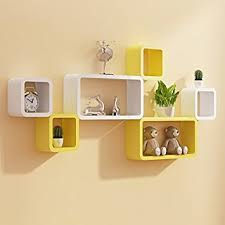 Small Picture Interiors by Designs Wall Shelf Set of Six Designer Wall Rack