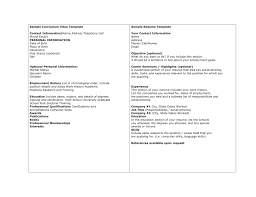 Cv Vs Resume Example Free Resume Templates