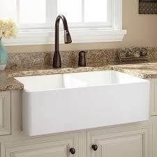 White Sinks For Kitchen 33 Baldwin Double Bowl Fireclay Farmhouse Sink Smooth Apron
