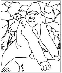 Dieren Kleurplaten Gorilla