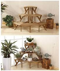 Flower Display Stand For Sale HansAlice Indoor 100Tier Fir Wood Corner Standing Flower Pot Rack 79