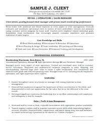 Retail Manager Resume Template Amazing Retail Manager Resume Sample J Client Perfect Socialumco