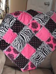Hot Pink   Pink black, Baby quilts and White flowers & SALE Zebra and Pink Crib Rag Quilt by VanDuren on Etsy, $55.00 Adamdwight.com
