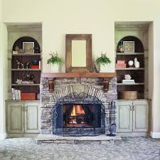 custom painted cabinets rustic family room