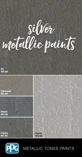 Metallic Tones Interior In 2019 Silver Paint Walls
