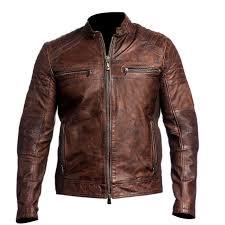 moto leather jacket mens. mens biker vintage motorcycle cafe racer brown distressed leather jacket | ebay moto