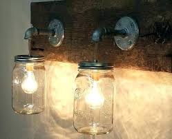 mason jar lighting outdoor jar lights amazing mason jar 2 light fixture rustic reclaimed barn wood mason jar regarding outdoor jar lights mason mason jar