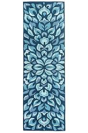 blue runner rug beach house rugs mineral blue petal pushers indoor outdoor rug runner