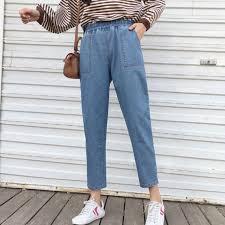 Harajuku <b>S</b>-<b>5XL</b> High Street Boyfriend Jeans for Women <b>Korean</b> ...