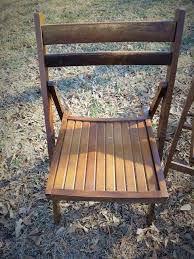 set of folding chairs. 4 Vintage Wood Folding Chairs Danish Modern Dining Set Porch Of R