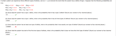Types Of Probability Solved Given That The System Has At Least One Type Of Def