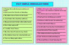 Simple: Irregular Verbs Worksheet