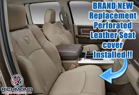 13 13 dodge ram laramie passenger side bottom perforated leather leather seat covers
