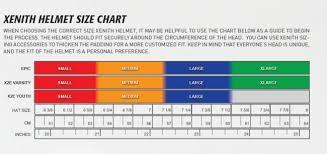 Xenith Youth Football Helmet Size Chart Tripodmarket Com