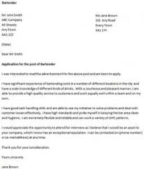 Cover Letter for a Bartender - icover.org.uk