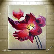 blooming purple flowers handpainted oil painting on canvas contemporary flower acrylic large canvas wall painting free