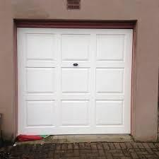 white 6x6 garage door 9 panel