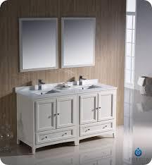 60 Fresca Oxford FVN20 3030AW Traditional Double Sink Bathroom