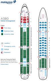 Malaysian A380 Seat Map Passenger Aircraft Malaysian