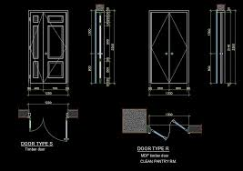 invaluable door details timber and mdf wooden door side and front views and plan details