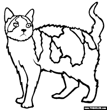 Free printable cat coloring pages for kids. Cats Online Coloring Pages