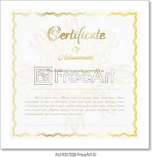 Certificate Background Free Free Art Print Of Vector Certificate Background Freeart Fa19317226
