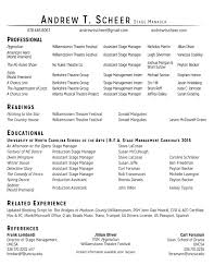 Stagehand Resume Examples stage manager resume Colesthecolossusco 31