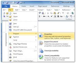 Office Word Format Where Is File Properties In Office 2007 2010 2013 And 365
