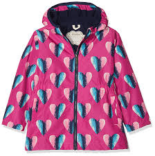 Amazon Com Hatley Kids Womens Hearts Microfiber Rain Jacket