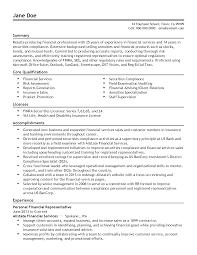 professional personal financial representative templates to resume templates personal financial representative