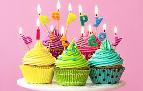 Wallpaper Candles Colorful Rainbow Cake Cream Happy Birthday