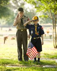 Image result for flag day with boy scouts pictures
