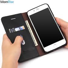 luxury retro slim leather flip cover for iphone 8 case wallet card slot stand magnetic book