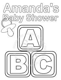 Download free coloring sheets to spark your kids' creativity anywhere—at home, in a waiting room, or on a. Personalized Printable Baby Shower Favor Childrens Kids Coloring Page Activity Pdf Or Jpeg File