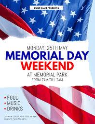 Memorial Day Weekend Event Flyer Design Template Memorial