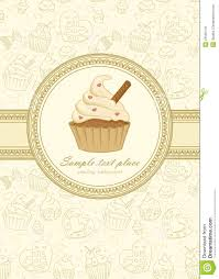 Vintage Frame With Cupcake Stock Vector Illustration Of Bakery