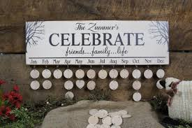 Family Birthday Calendars Personalized Monthly Calendar All Wood Celebrate Family Friends Life Wooden Discs Rustic Sign Designs Tree