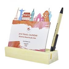 Travel Calendar 2018 Travel Calendar With Pen Stand From Think Pot Order Online
