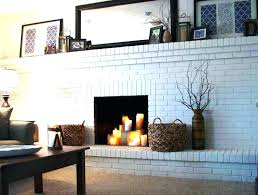 modern white fireplace brick painting ideas home fireplaces in stylish screen