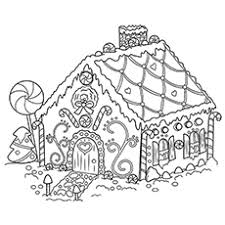 Printable Gingerbread House Free Coloring Pages On Art Coloring Pages