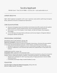 List Of Skills And Talents Ultrasound Technician Resume Example And Skills
