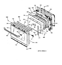 general electric jtp16gv2bb built in electric oven timer stove jtp16gv2bb built in electric oven oven door parts diagram