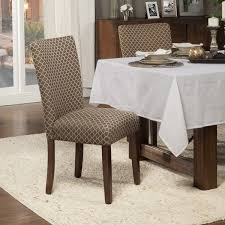 kitchen dining room chairs homepop elegance brown tan parson chair set of