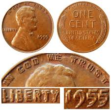 Lincoln Wheat Penny Value Chart 1955 Lincoln Wheat Penny Doubled Die Obverse Coin Value