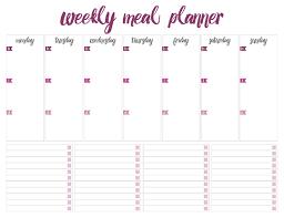 Weekly Meal Plan Sheet Printable Weekly Meal Planners Free Live Craft Eat